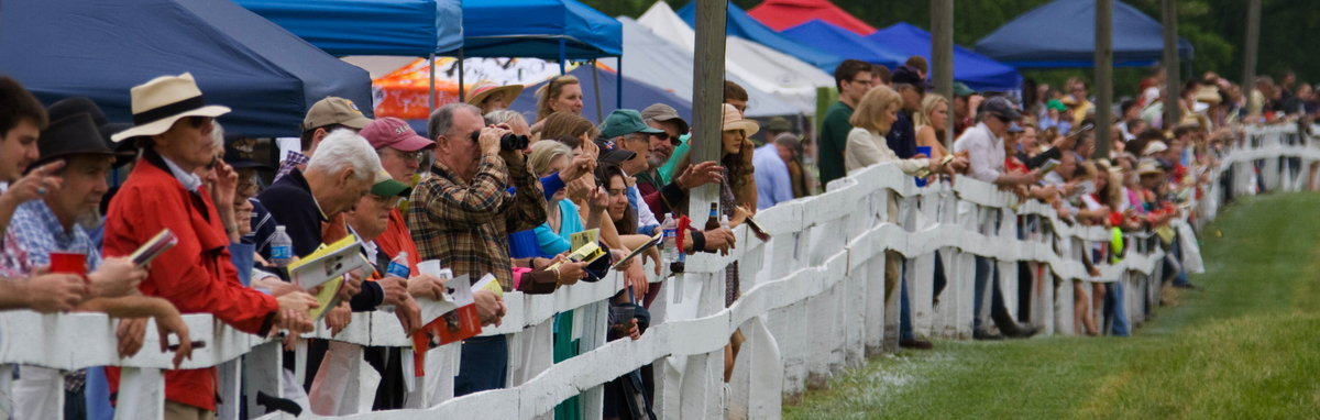 Spectators at the Potomac Hunt Races