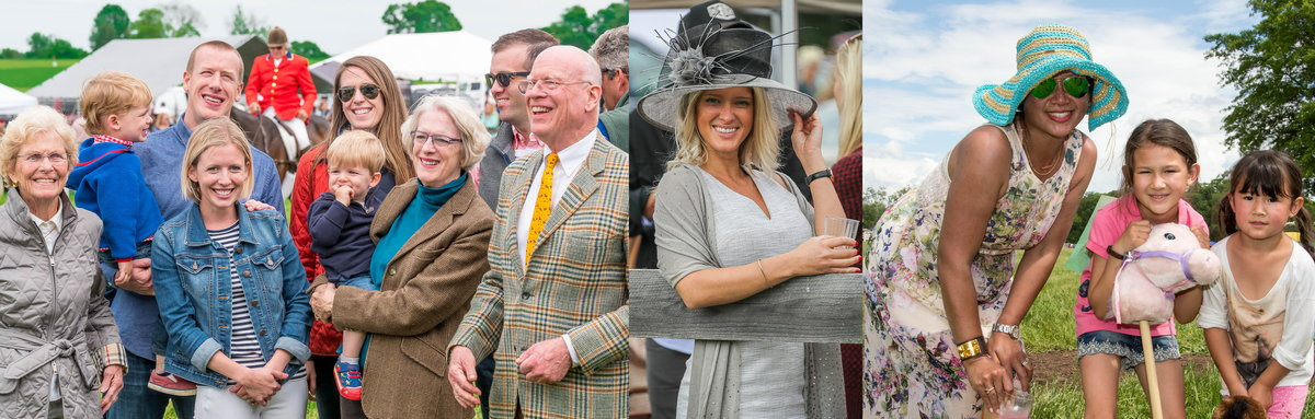 Examples of what to wear at the Potomac Hunt Races